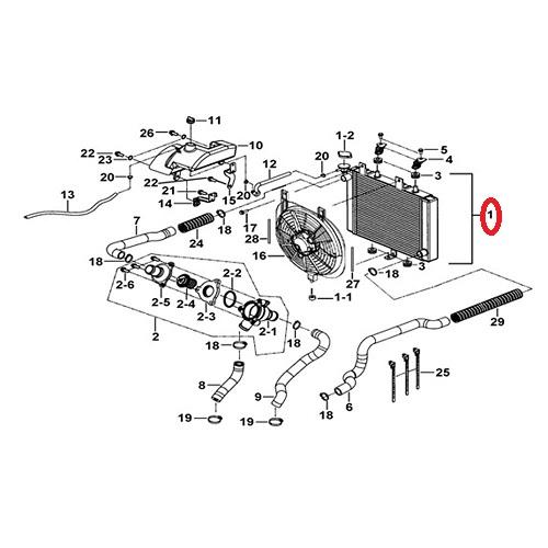 Chladič TGB BLADE 1000 (910379Y)